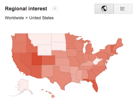 How To Use Google Trends-Web Marketing Regional View