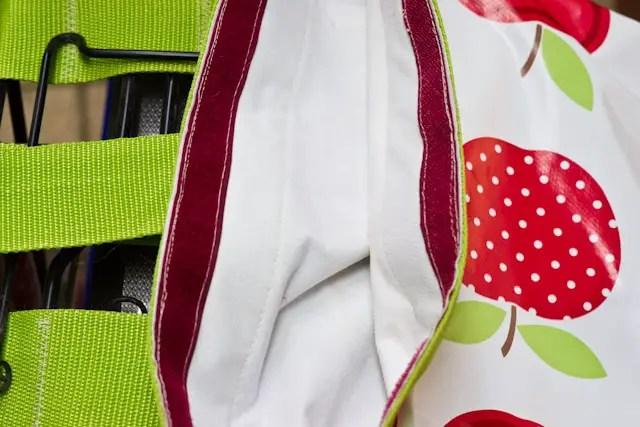Fahrradtaschen aus Wachstuch nähen mit Klettverschluss