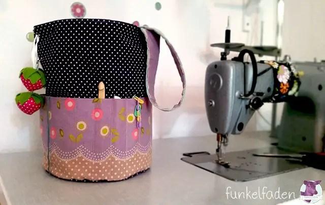 DIY - Utensilo für Stricksachen nähen
