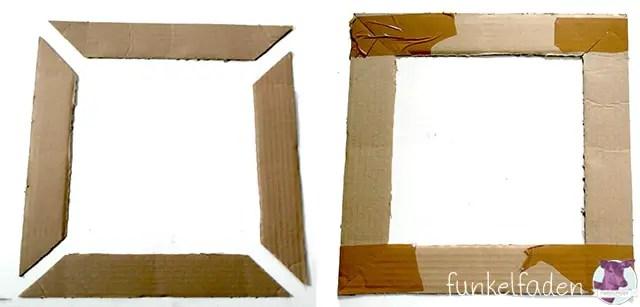 Anleitung für Bilderrahmen aus Pappe