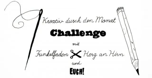 Kreativ durch den Monat Challenge mit Funkelfaden und Herz an Hirn
