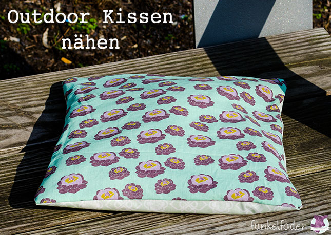 Genäht - Beschichtetes Outdoor Kissen