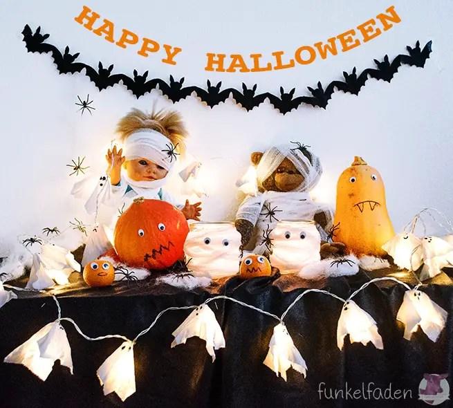 DIY Dekoration für Halloween basteln