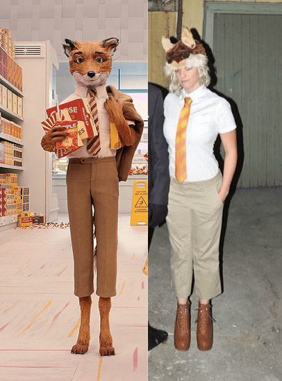 Clive Badger and Fantastic Mr Fox cosplay