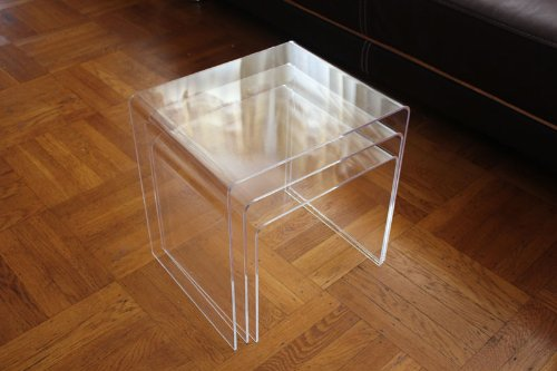 Clear Acrylic Nesting Table Coffee