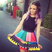 black milk color bar skirt