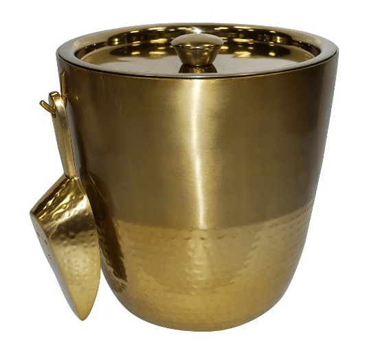 Gold Finish Ice Bucket