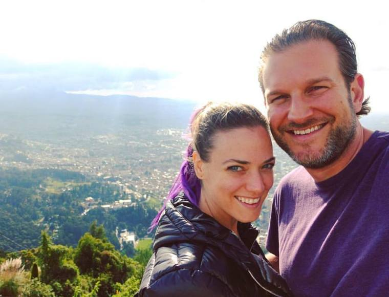 Mike and me on our day trip to Monserrate.