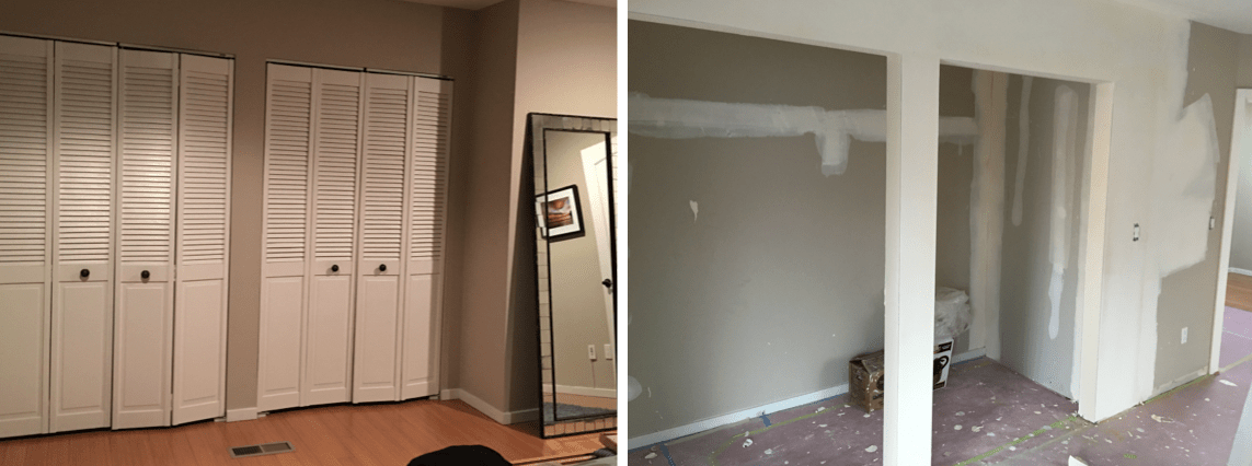 Let there be walls and a whole lot of dust: An update on the move-in remodel