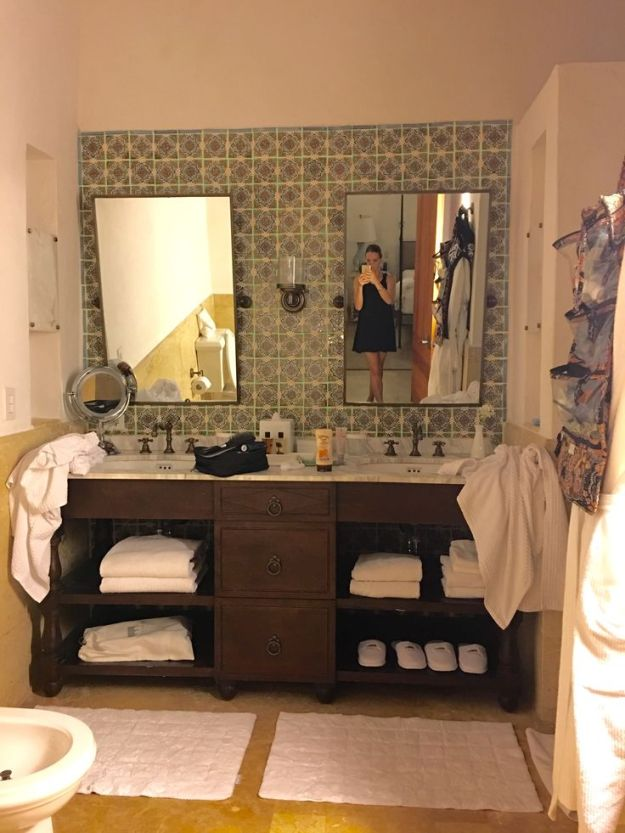 My favorite bathroom from our hotel room in Cartagena, Colombia.
