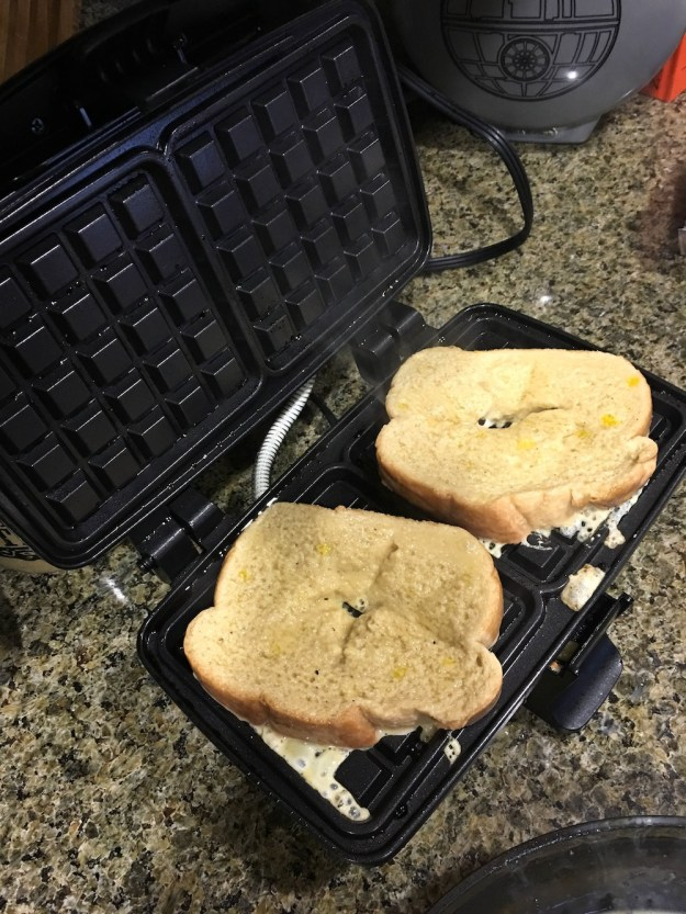 french toast on a waffle maker