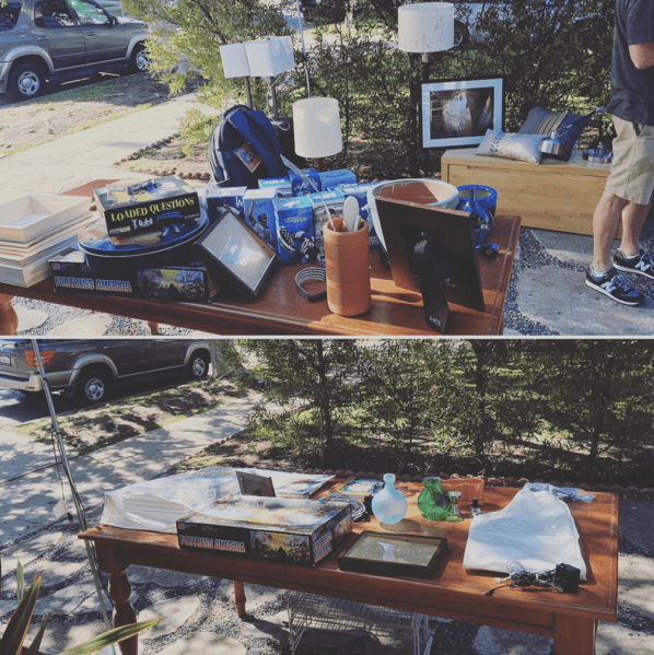 garage sale before and after