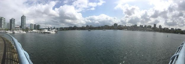 Gorgeous view on my walk along the harbor in Yaletown.