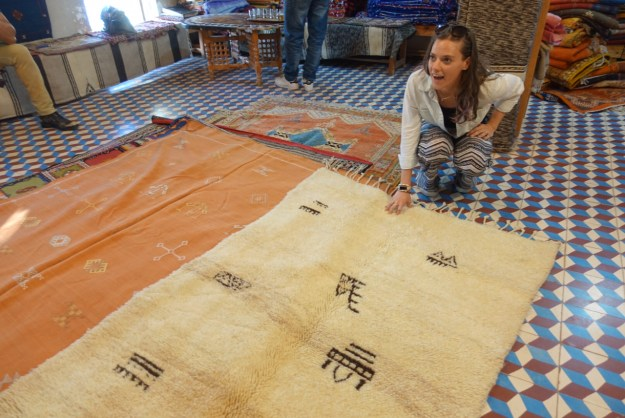 megan with another fucking beni ourain rug