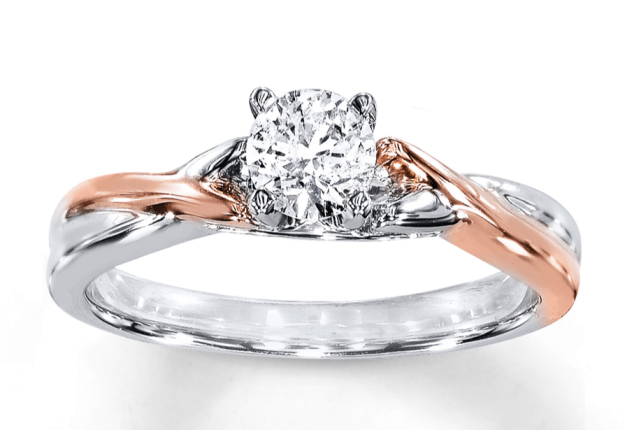 two tone solitaire ring setting