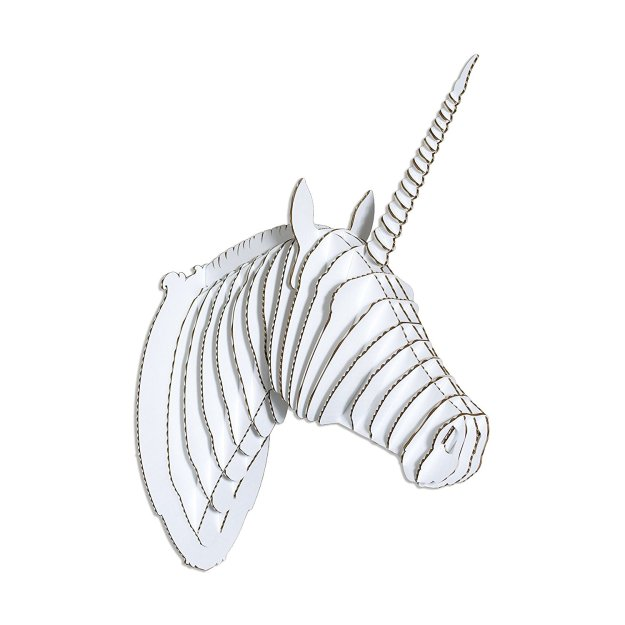 cardboard-unicorn-head