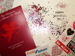 Valentine's Day Glitter Bomb Card with Custom Message