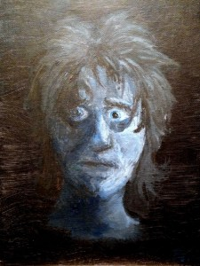 I painted this self-portrait about 18 years ago in the midst of one of my night terrors.