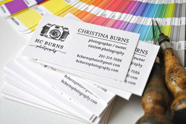 custom letterpress business cards