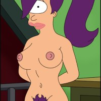 "Great art of Leela Turanga from ""Futurama"" posing absolutely naked!"