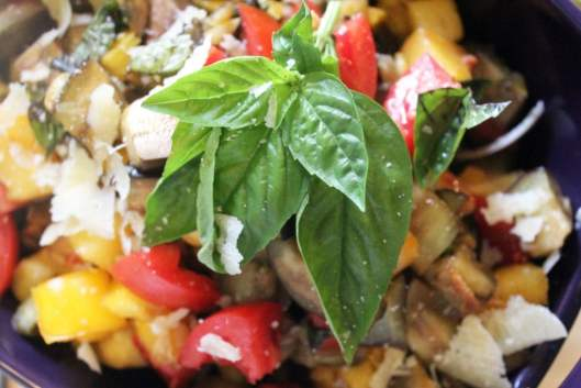 Extra basil on top