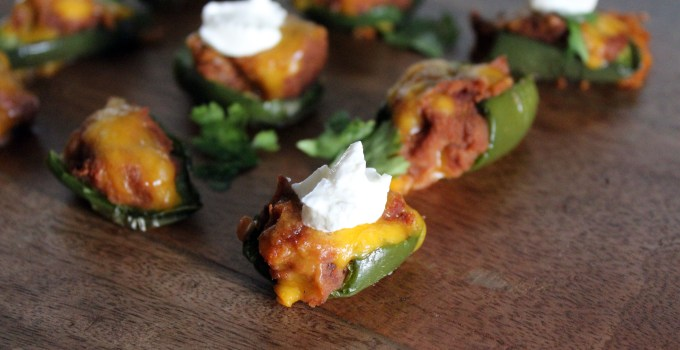 Refried Bean Jalapeno Poppers 2 Ways