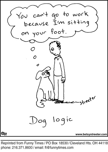 Funny love dog streeter  cartoon, March 11, 2009