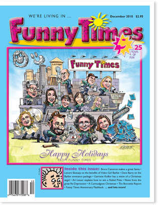 Funny Times December 2010 issue cover