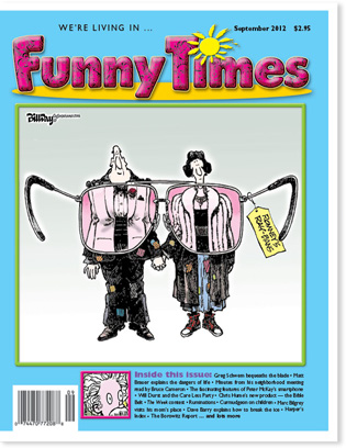 Funny Times September 2012 issue cover
