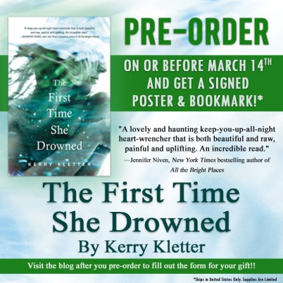 The First Time She Drowned pre order box
