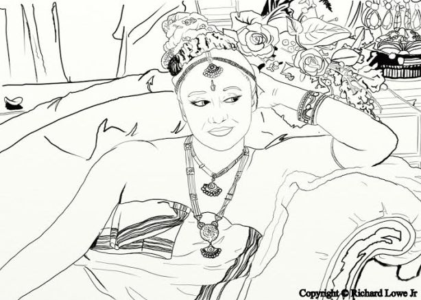 Belly Dancer Coloring Book Teaser