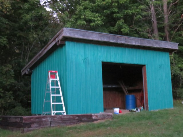 The shed, almost finished
