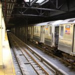 As New York's subway system gets back on its feet, some subway cars remain stationary like this 3 train at 116th Street Station.