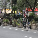 Due to a lockdown on New York's public transport system, people took to biking to get to and from work.