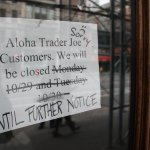 New York's popular grocer, Trader Joe's, was closed for a week due to Hurricane Sandy.