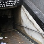 Flooded subway station