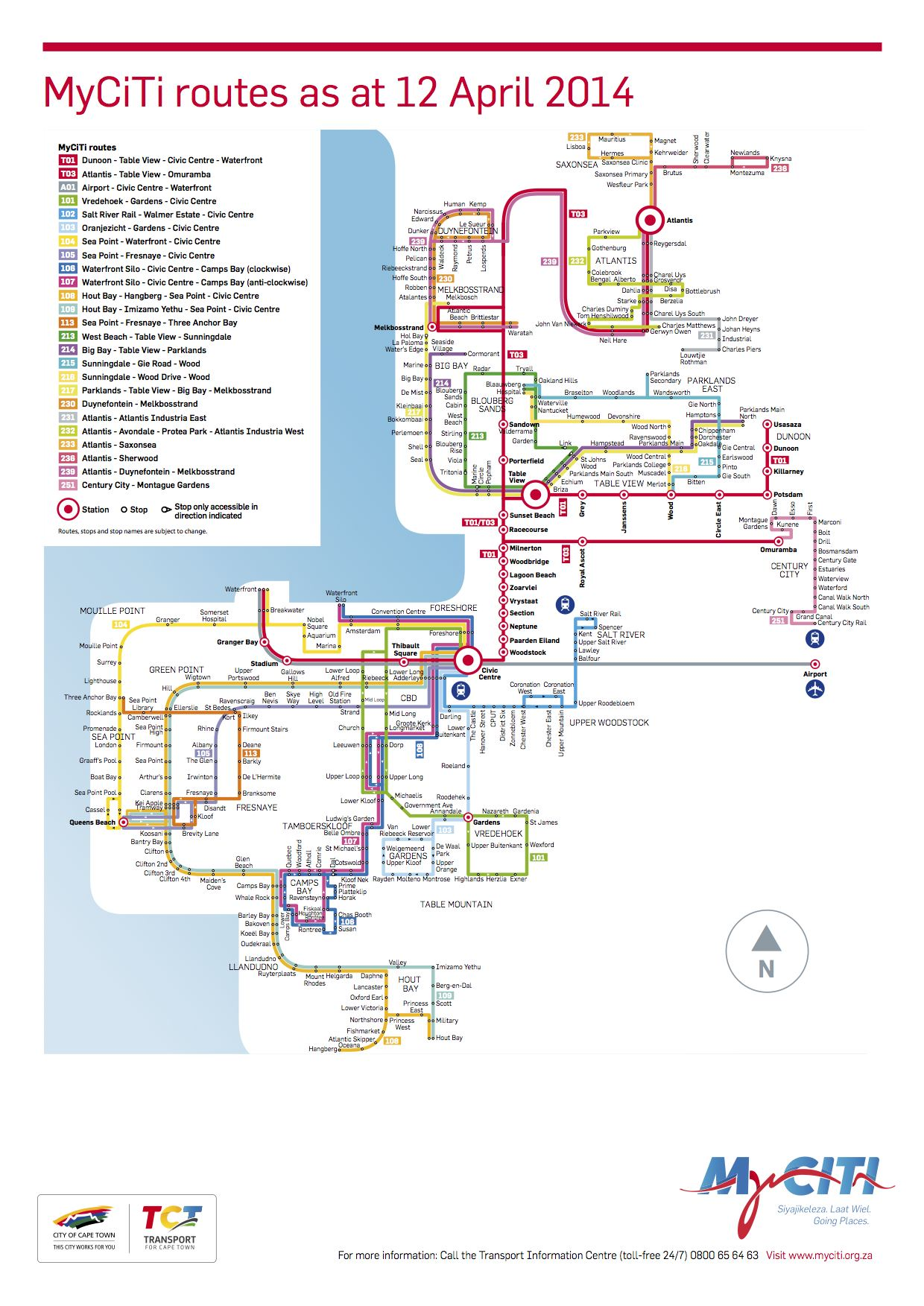 System map as at 12 April