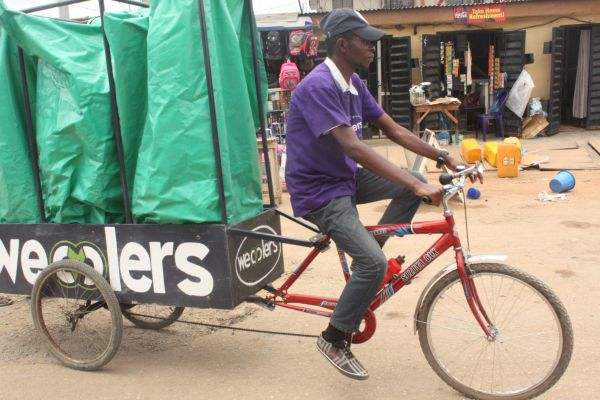 A Wecycler in Action Image: Wecylers