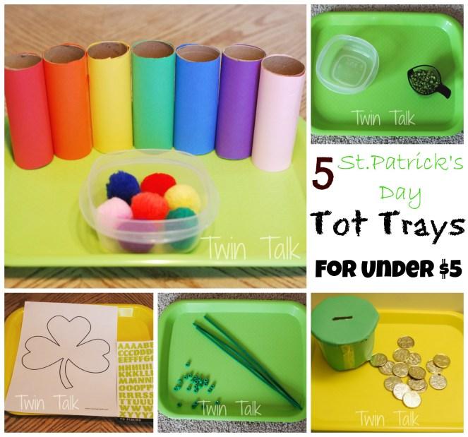 St. Patrick's Day Tot Trays