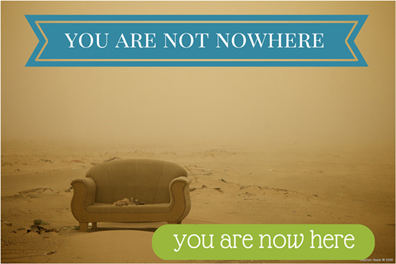 Image source: 31 Days of Clarity – Day #8 You are Now Here, by Cathie Ostapchuk