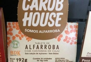 Alfarroba com Castanha de Caju Zero Carob House
