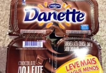 Danette Chocolate ao Leite Danone Código de Barras