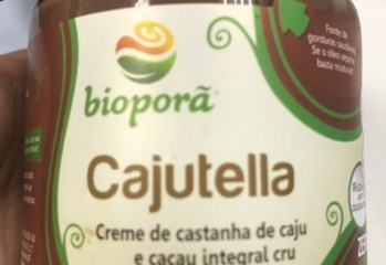 Creme de Castanha de Caju e Cacau Integral Cru Cajutella Bioporã