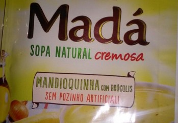 Sopa Natural Cremosa Madá Mandioquinha com Brócolis Mãe Terra