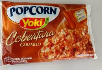 Pipoca de Micro ondas com Cobertura Caramelo Popcorn Yoki