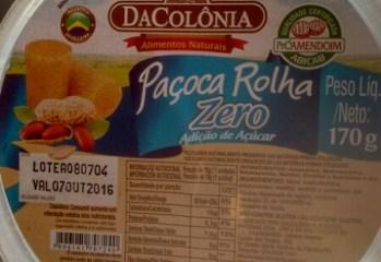 Pacoca Rolha Zero Da Colonia