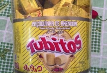 Paçoquinha de Amendoim Tubitos Jazam