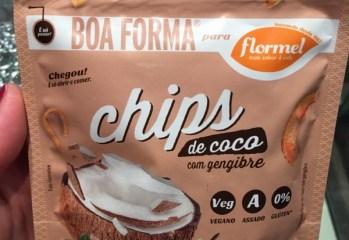 Chips de Coco com Gengibre Boa Forma para Flormel