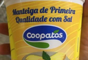 Manteiga de Primeira Qualidade Com Sal Coopatos