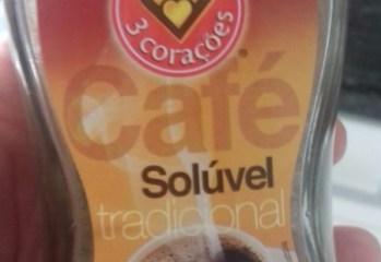Café Solúvel Tradicional 3 Corações